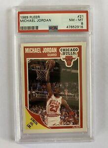 1989-90 MICHAEL JORDAN FLEER #21 PSA 8 🔥 Bulls GOAT
