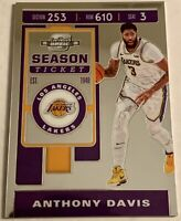 2019-20 Panini Contenders Optic Basketball Anthony Davis Season Ticket Base Card