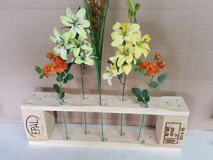 Paletten Stele Blumenständer Vase Tisch Vase Reagenzglas Regal Palettenmöbel