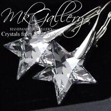 Pendientes de plata 925 Estrellas-Cristal Cristales de Swarovski ® Cal 20mm