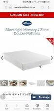 Silentnight Double 7 Zone Memory Foam Mattress. BRAND NEW NEVER USED NO PACKGING
