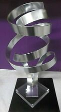 VTG Tall Modern Kinetic Abstract Signed Dan Murphy Sculpture Metal Lucite 2853
