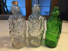 3: Antique Poland Spring Figural Figure Bottles Maine HIRAM RICKER Prohibition!