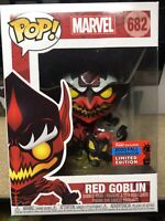 FUNKO POP! MARVEL #682 RED GOBLIN 2020 NYCC SHARED EXCLUSIVE Carnage Symbiote!