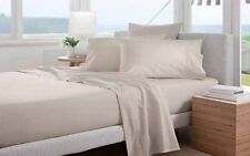 Pair of Sheridan Percale 300TC Cotton Standard Pillow Cases in Putty RRP $34.95