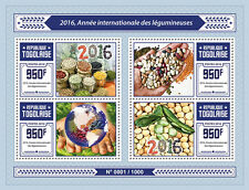 Togo 2016 MNH International Year of Pulses 4v M/S Legumes Grains UNESCO Stamps