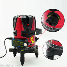 8 line Rotary Laser Beam Self Leveling Interior Exterior Laser Level Kit+ Tripod