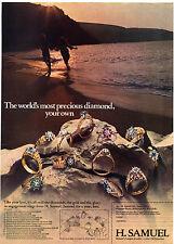 H. Samuel Diamond Rings 1971 Magazine Advert #17730