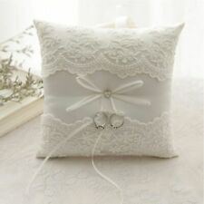 Wedding Decor Ring Pillow Romantic Celebrations Embroidered Flowers For Ceremony