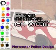 Ich muss kein altes Auto fahren JDM Sticker Aufkleber OEM Power fun Shocker