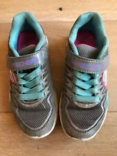 Girls Sketchers Trainers. Size 10.5. Grey and Teal. Used
