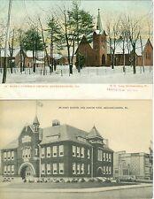 Mechanicsburg,PA.Lot of 2  Junior-Senior High School & A Snowy St Marks Church