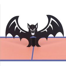 Creative Halloween Bat 3D Pop Up Greeting Cards Happy Birthday Anniversary Gift