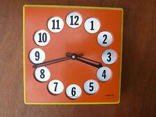 Ancienne horloge, pendule orange VEDETTE  pour déco vintage, années 50