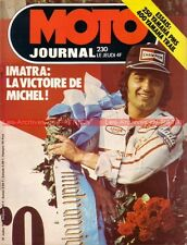 MOTO JOURNAL  230 YAMAHA PMS 250 RD DT 400 ; Grand Prix Finlande 1975