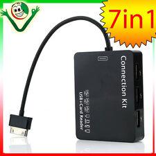 KIT 7in1 adattatore HUB OTG USB pr Samsung Galaxy Tab 10.1 P7500 lettore penna