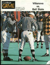 College Football Program Ball State 1977 Villanova Howie Long HOF