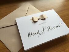Will You Be My Maid Of Honour Card & C6 Envelope Wedding Invitation Bridal Party