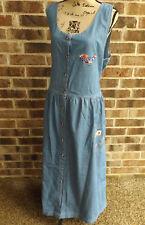Denim Jumper Dress NURSE Embroidered Blue Diamond Virginia Beach XL