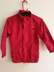 Girls 128/8yr Helly Hansen Pink Waterproof Coat Jacket Helly Tech