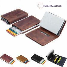Leder Kreditkartenetui RFID Schutz Geldbeutel Geldbörse Portemonnaie Etui
