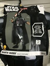 Rubie's Star Wars Darth Vader Costume Boys Small 4-6 Complete New w/ Helmet