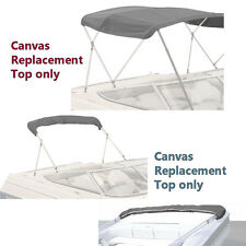 "BIMINI TOP BOAT COVER CANVAS FABRIC GRAY W/BOOT FITS 3 BOW 72""L 46""H 54""-60""W"