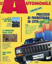 * L'AUTOMOBILE N°468/ FEB/1989 * PROCESSO AI FUORISTRADA IN CITTA'* DUE AUTO DOC