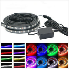 4 Pcs 8-Color LED RGB Car Off-Road Tube Underglow Light Strips Phone APP Control