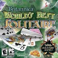 Britannica World's Best Solitaire  500+ Solitaire Games  XP Vista 7  Brand New