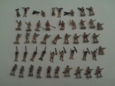 AIRFIX HO/OO VINTAGE BRITISH 8TH ARMY NORTH AFRICA FIGURES X 48 FULL SET IN VGC