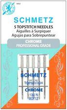Schmetz Chrome Topstitch Sewing Machine Needles 80/12~5 Pack~Part# S-4092~