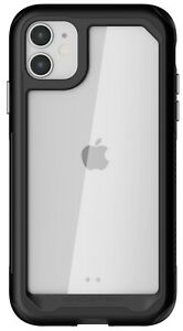 Clear iPhone 11, 11 Pro, 11 Pro Max Case with Metal Bumper Ghostek Atomic Slim