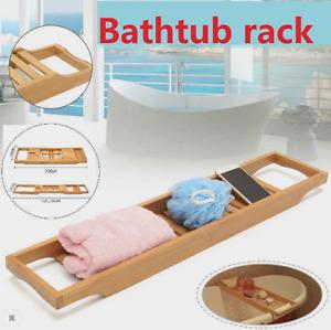 Bamboo Handmade Bath Tray Bathroom Shelves, Apply For Pad/Book/Tablet Home