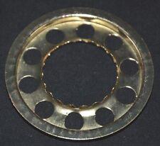 "Miniature 2"" Lamp Shade Holder Nutmeg Style Burner 1 3/16"" Opening Brass Plated"