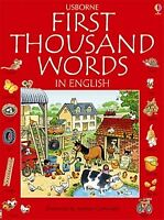 Usborne First Thousand Words in English for Children Learn English