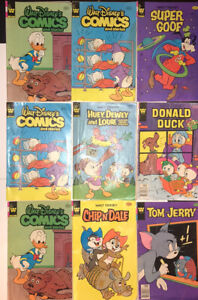 Walt Disney Comics 9 Issue Lot **Whitman Comics 1978-1984**