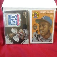 HANK AARON 2020 Topps Rookie Retrospective RC Medallion + 150TH patch card LOT