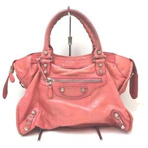 Balenciaga Hand Bag CITY Pinks Leather 1604289