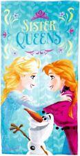 "Girls Disney Frozen""Sister Queens"" Character 100% Cotton Beach Towel Xmas Gift"