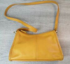 Vintage Coach 4104 Small, Mustard, Leather Shoulder Bag Purse Zip Inside Pocket