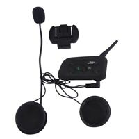 Motorcycle Helmet Bluetooth Intercom Interphone Headset BT Intercomunicador V6