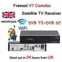 Freesat V7 COMBO Satellite TV Receiver DVB-S2 DVB-T2 1080P Full HD TV BOX Player