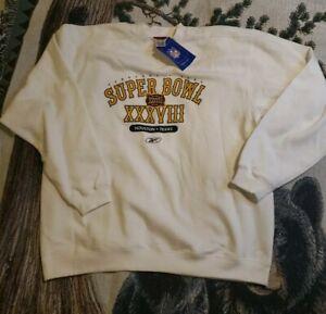 NWT Vintage 2004 Super Bowl XXXVIII Champion New England Patriots Sweatshirt XL