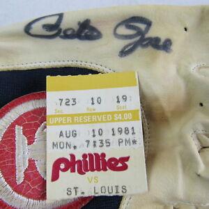 Pete Rose Autographed Game Worn Mizuno Batting Glove Philadelphia Phillies