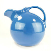 Hall China of Ohio Blue Ball Pitcher