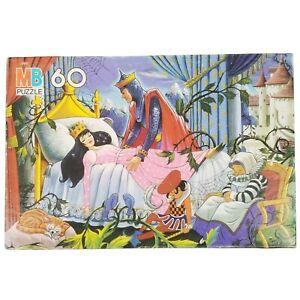 Vintage 1987 Milton Bradley Sleeping Beauty Storybook Puzzle 60 Pieces Complete