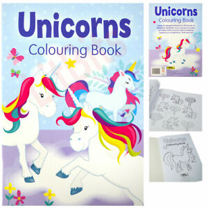 Unicorn Colouring Book Kids Girls Fun Activity Pad Large A4 Size Painting Draw