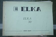 Elka Elka 30 Electronic Organs Schematic Diagram Manual
