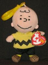 c04b8f558ea TY KEY CLIP BEANIE BABY - CHARLIE BROWN - MINT with MINT TAGS